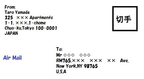 あて名の記載方法-国際郵便で送る | お便りポスト便